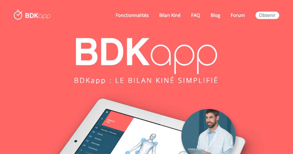 BDKApp Bilan Kiné